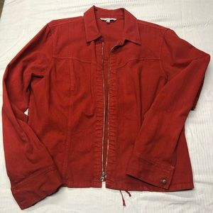Cabi red denim jacket